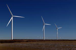 white windmill blades